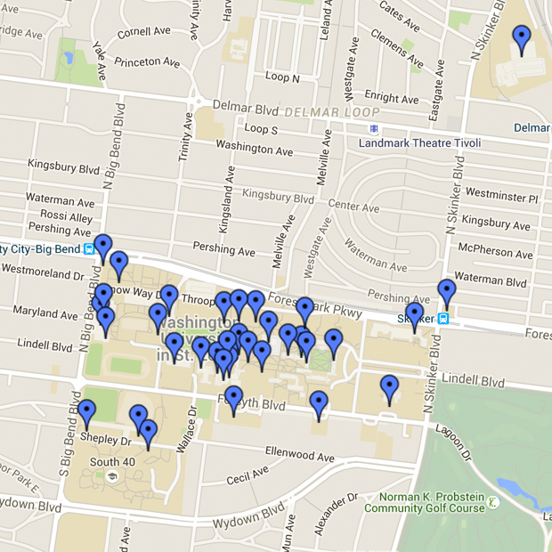 Danforth Campus map image