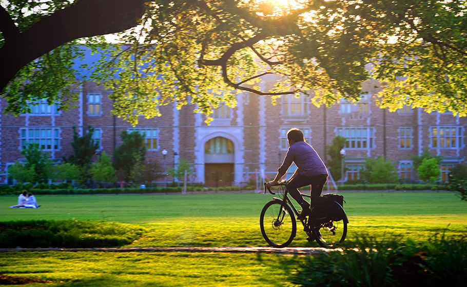 bicycling on campus