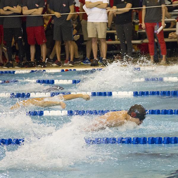 Brandon Lum swimming