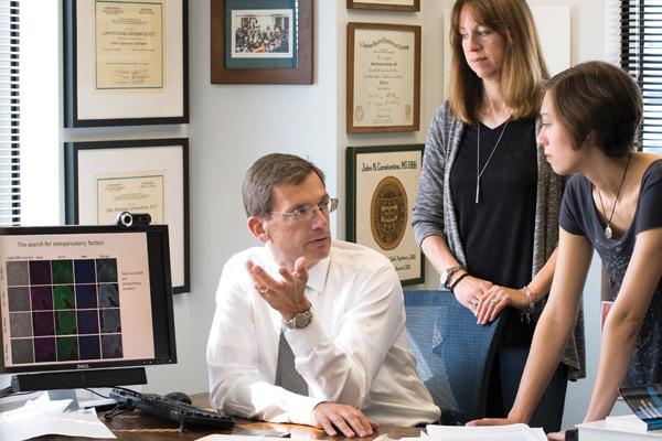 John Constantino, MD, Kim Sebenoler and her daughter, Sarah