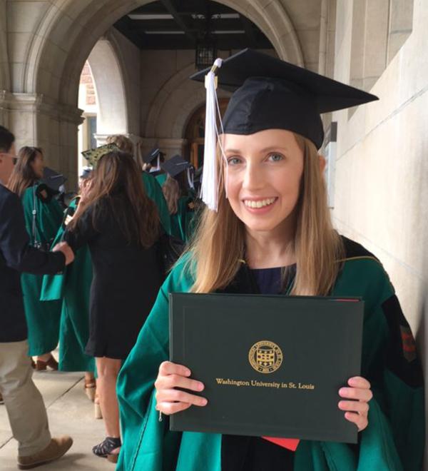 Laura Cobb at her WashU graduation