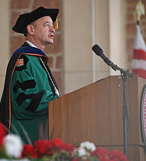 Chancellor Wrighton at Commencement