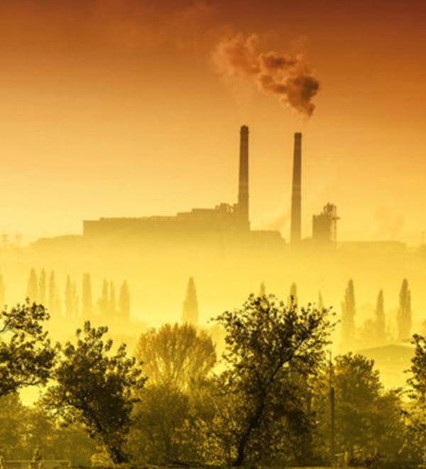 Smokestacks polluting