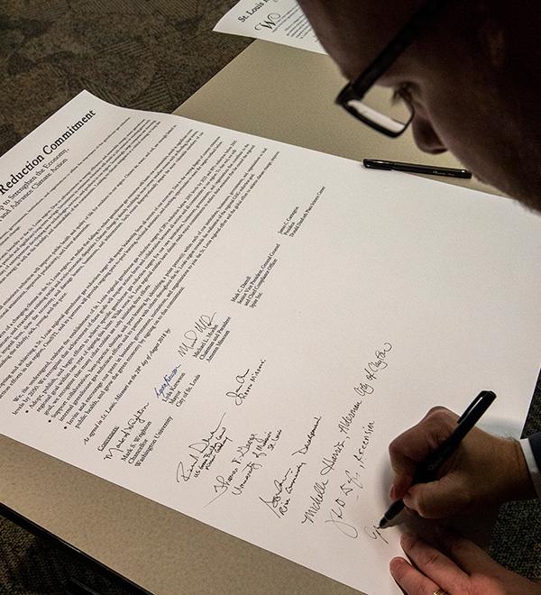 Man signs proclamation