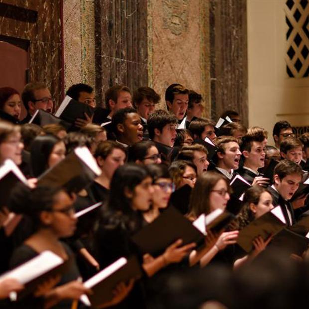 WashU choir singing