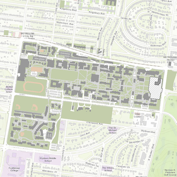 u of washington campus map Maps Directions And Parking Washington University In St Louis