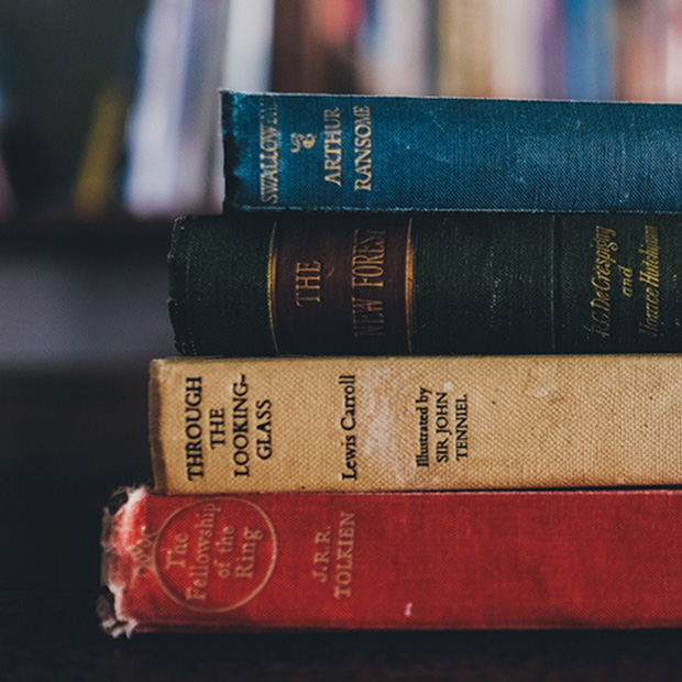 Stack of antique-looking books