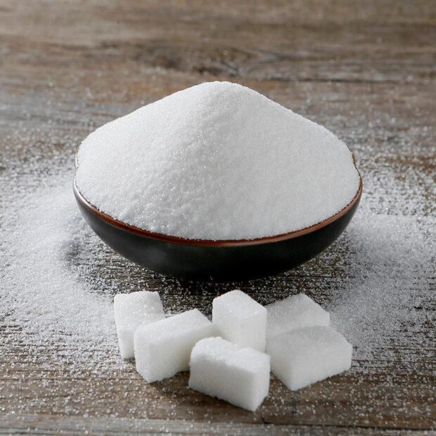 bowl of sugar and sugar cubes