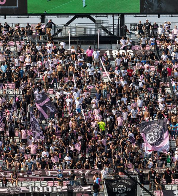 A full stadium
